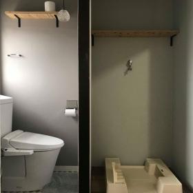 WC(シャワートイレ) & 洗濯機置き場(室内置き)