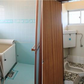 お風呂はバランス釜です。慣れれば特に気にならないかと思いますが、得意じゃない方は、ご注意ください。