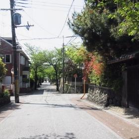駅からお屋敷まではこんな道を歩きます。