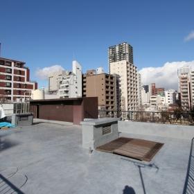 入居者専用の屋上。